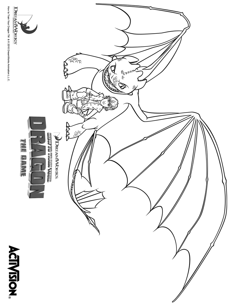dreamworks dragons 2 coloring pages - photo#25